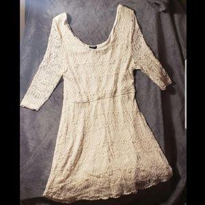 Rue21 Cream Lace Dress Size 1X